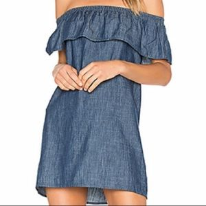 Soft Joie Nilima off the shoulder chambray dress